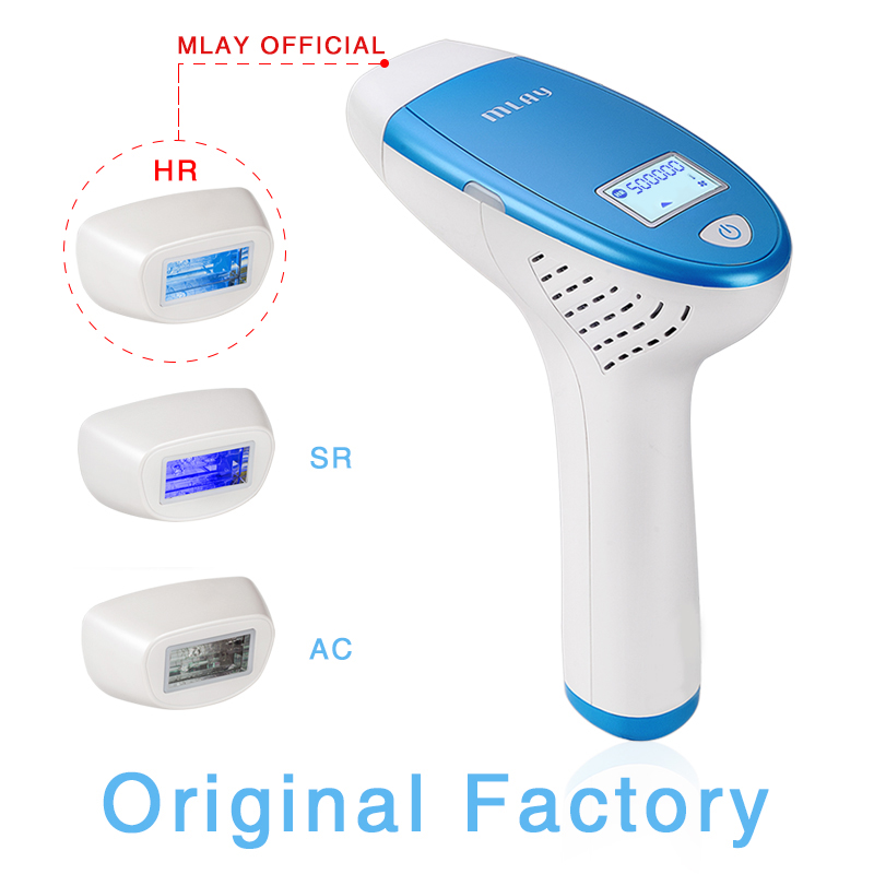 Image 3 - Free shipping by DHL MLAY M3 Home IPL Hair Removal System With 3Pcs 500000 Flashes Head For Hair Removal/Anti Acne/Rejuvenation-in Epilators from Home Appliances