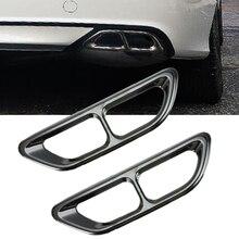 2 шт. металлический черный титановый задний цилиндр глушитель наконечник концевой трубы обод хромированный для Honda Accord 10th автомобильный Стайлинг