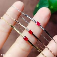 KJJEAXCMY fine jewelry natural Ruby 925 sterling silver new women hand bracelet support test trendy