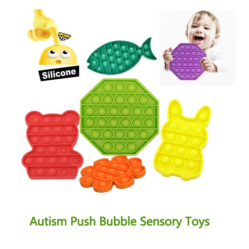 Jouet sensoriel Push Pop bulle autisme a besoin de jouets Anti-Stress spongieux enfant adulte drôle Anti-stress