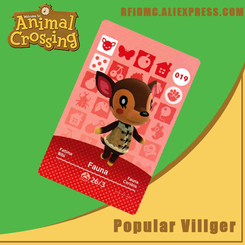 019 Fauna Animal Crossing Card Amiibo For New Horizons