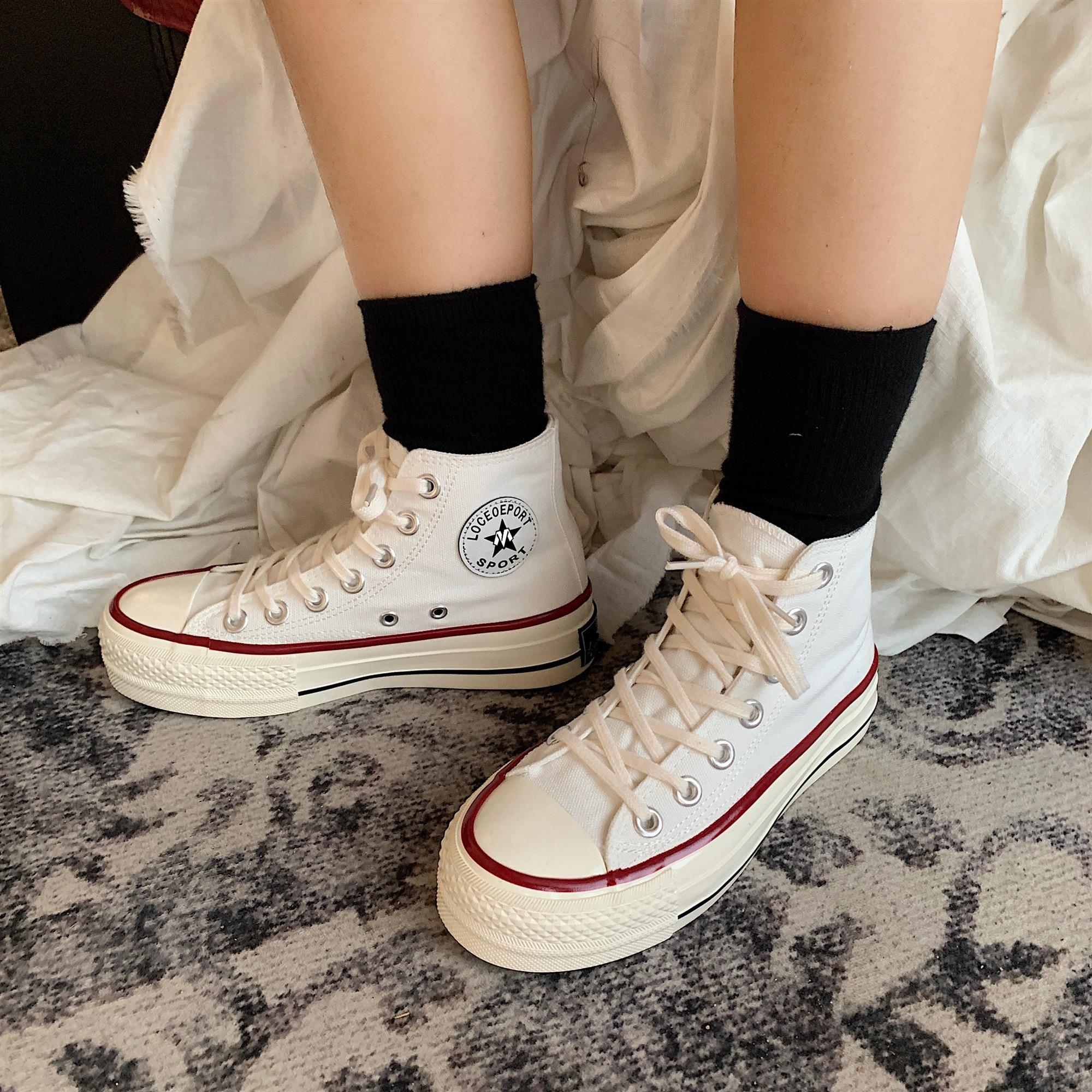Где купить Парусиновая женская обувь на высокой платформе; Модные женские повседневные кроссовки в стиле ретро на шнуровке; Дышащая обувь для отдыха