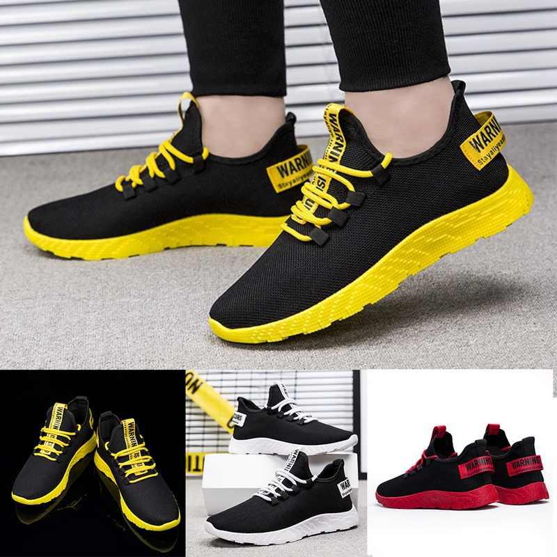 2019 erkekler Sneakers nefes rahat kaymaz koşu ayakkabıları erkek Lace up aşınmaya dayanıklı ayakkabı masculino yumuşak hafif