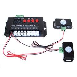 Tira Led Controlador de luz 18 canales infrarrojos humanos táctil multifunción controlador de inducción puerta paso escalera lámpara corriendo