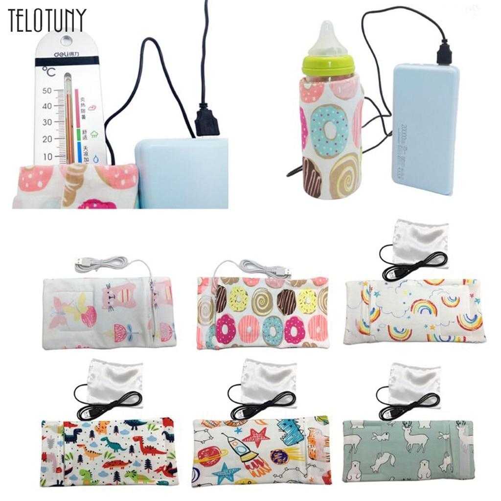 TELOTUNY 14Colors USB Milk Water Warmer Travel Stroller Insulated Bag Baby Nursing Bottle Heater Baby Feeding Bottle Heater 1125