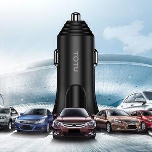 Image 4 - Cargador de coche TOTU 3 en 1, Cable de carga de teléfono, USB para Lightning Micro USB + tipo C 5V 3.4A, cargador de coche USB para iPhone, Xiaomi, Huawei