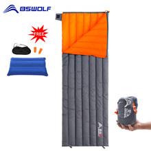 BSWolf Camping Ultraleicht Schlafsack Unten Wasserdichte Tasche Tragbare Outerdoor Warme Reise Schlafsäcke