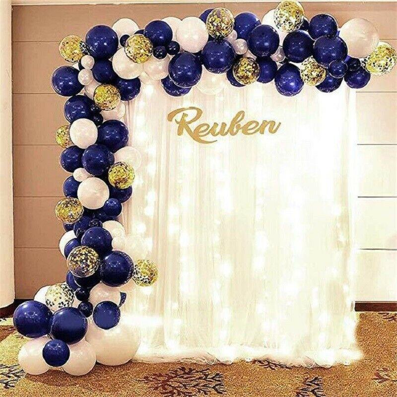 61Pcs/set Balloons Garland Arch White Blue Confetti Party Ballon Wedding Birthday Baloon Birthday Party Decor Kids Baby Shower