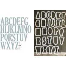 13cm Plastic Stencil&Large A-Z Alphabet 10cm Big Metal Cutting Dies Scrapbooking Album Paper DIY Cards Crafts Cut  New 2019