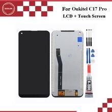 """Ocolor para oukitel c17 pro display lcd e tela de toque digitador assembléia 6.35 """"para oukitel c17 pro tela lcd com ferramentas + cola"""