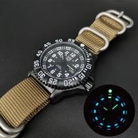 Männer Edelstahl Uhren Blau Grün Leuchtende Silica Gel Quarz Armbanduhr Wasserdicht Tauchen Schwimmen Outdoor Military Uhren
