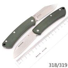 JUFULE nowy 318/319 micarta / G10 uchwyt znak s30v ostrze obóz polowanie kieszeń zewnętrzna owoce narzędzie EDC narzędzie Gentleman składany nóż
