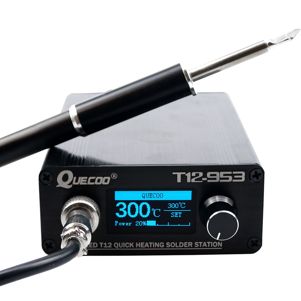 STM32 T12-953 OLED/1.3inch T12 Digital Soldering Station Electronic Soldering Iron With M8 Metal Handle And Solder Tips