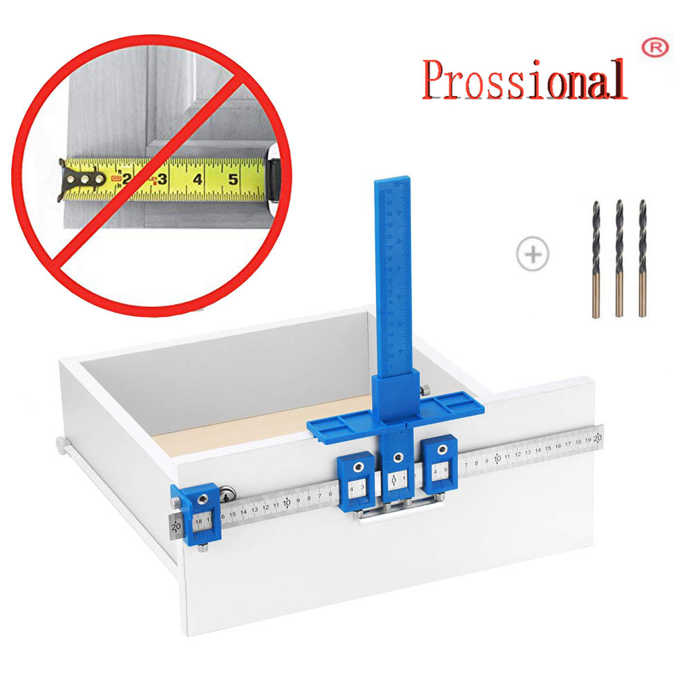 Detachable Hole Punch Locator Jig Tool Drill Guide Sleeve For Drawer Cabinet Hardware Dowel Wood Drilling Hole Punching Rule