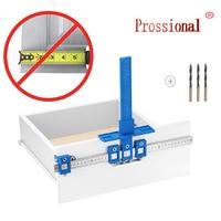 Localizador de perforación de agujeros desmontable, herramienta de plantilla, funda de guía de broca para cajón, accesorios del armario, espiga, regla de perforación de agujero de madera