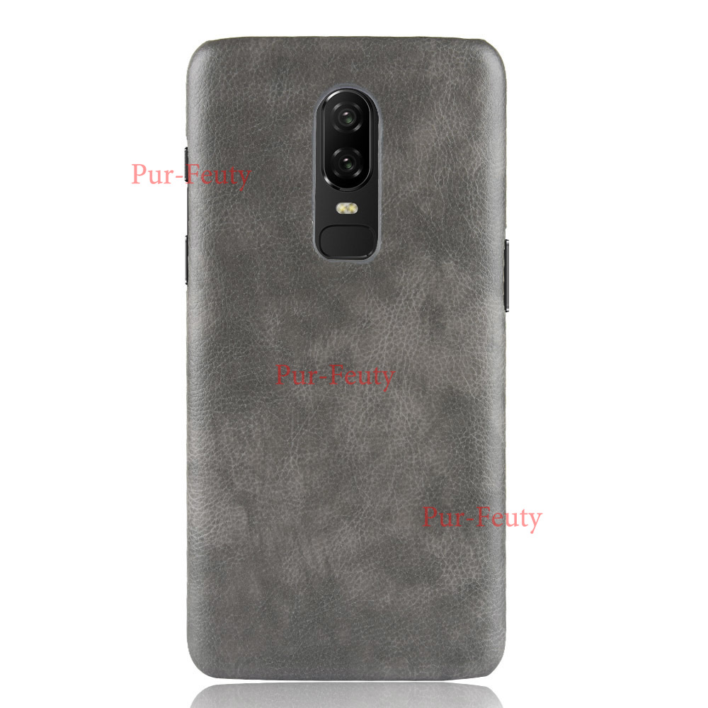 For <font><b>OnePlus</b></font> 6 Case <font><b>OnePlus</b></font> <font><b>A6000</b></font> Case Hard PC Leather Hard Plastic Phone Case For <font><b>Oneplus</b></font> 6 1+6 2018 Six Case phone Back Cover image