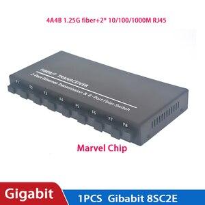Image 2 - Commutateur à fibres optiques 8 SC 2 1000M RJ45 convertisseur de médias de commutateur Ethernet Gigabit de qualité industrielle 5V3A