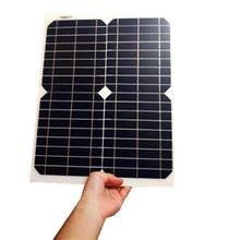 RG 18 в 20 Вт 40 Вт 100 Вт комплект солнечных панелей прозрачная Гибкая монокристаллическая солнечная батарея DIY модуль открытый разъем DC 12 В зарядное устройство