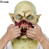 Halloween Bloody Scary Horror Masks Adult Zombie Monster Vampire Mask Latex Costume Party Full Head Cosplay Mask Masquerade Prop