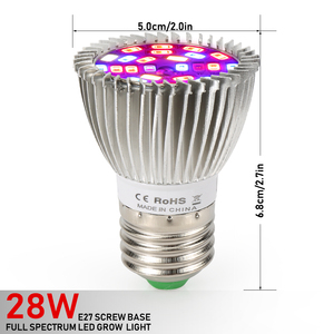 Image 2 - (8/Pack) 28W 28LED E27 LED Grow Light Full Spectrum Growing Led Lamp For Indoor Plants Hydroponics System Grow Tent Complete Kit