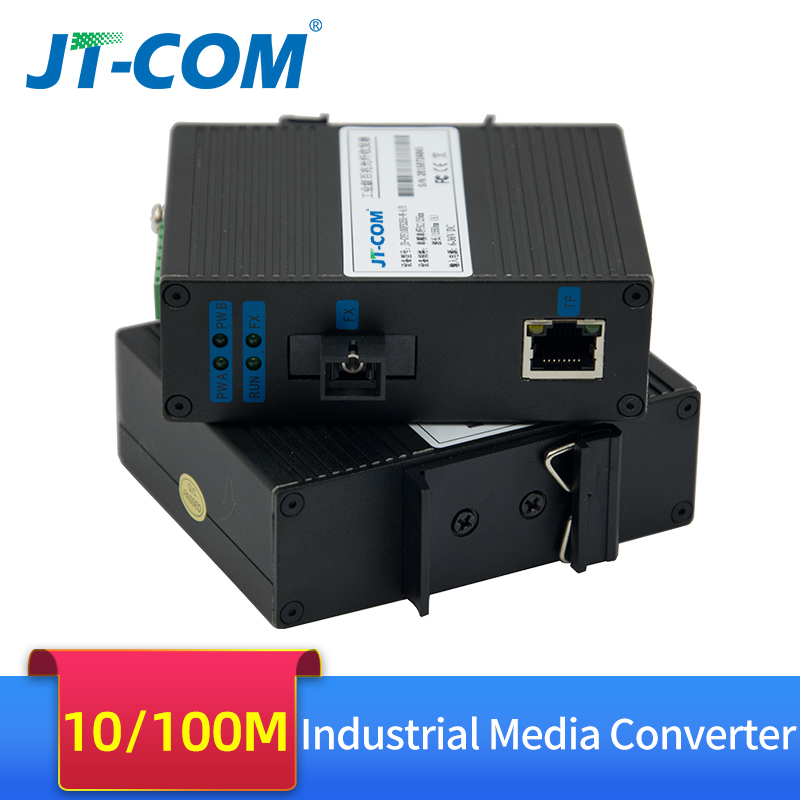 Industrial-grade Ethernet Switch 10/100Mbps Fiber Optic Media Converter 1 SC Port 4 RJ45 Media Converter To Ethernet Network