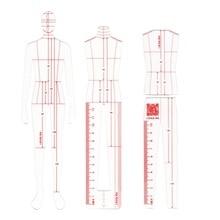 Erkek moda cetvel konfeksiyon tasarım etkisi stil erkekler çizim şablonu cetvel orijinal tasarım modeli 25cm yükseklik