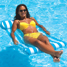 Summer Water Hammock Recliner Inflatable Floating bed Swimming pool Floating Swimming Mattress sea Swimming Ring Water Sports