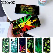 Tropical weed hemp leaves Silicone Case for Redmi Note 4X 5 Pro 6 5A Prime 7 8
