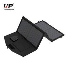 ALLPOWERS 5V 12V 18V ładowarka do baterii słonecznej przenośna ładowarka solarna SunPower do iphonea Samsung iPad akumulator samochodowy do laptopa