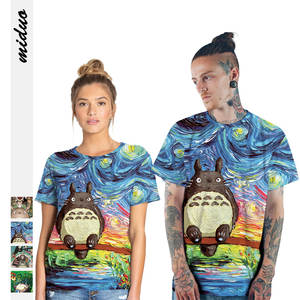 Manufacturers Direct Selling Totoro Anime Spirited Away Women's Leisure T-shirt Summer