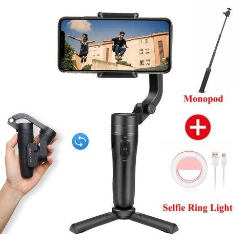 Dobrável do Telefone do Bolso de Feiyutech Fornecedor do Cardan para o Iphone 3-axis do Punho Cardan Vlog Huawei Samsung Mais Smartphone um