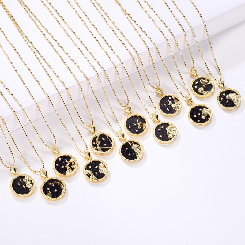 Image 2 - Silvology, Голубой песок, камень 12, подвеска созвездия,  ожерелье, 925 пробы, серебро, элегантное ожерелье для женщин, 925,  ювелирные изделия на день рожденияОжерелья