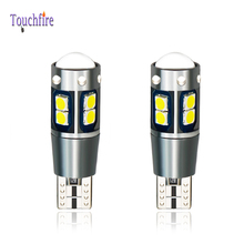2PCS T10 W5W 194 Canbus LED Car Door Bulb 3030SMD 10LED Dome Clearance Lamp License Plate Side Auto Light 12-24V For Passat B6