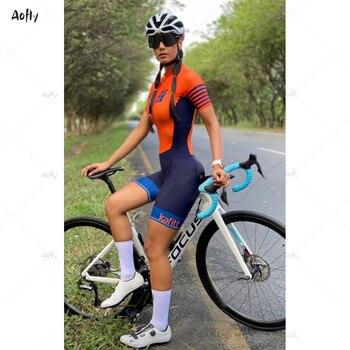 Macacão de ciclismo das mulheres jérsei 2020 pro equipe kafitt verão bicicleta ciclismo roupas da bicicleta triathlon ciclismo terno 1