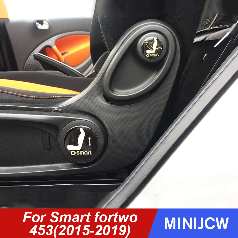 Car Styling Seat Adjuster Trunk Sticker Sign Tips Epoxy Sticker Interior Decoration For New Smart Fortwo Forfour 453 Accessories
