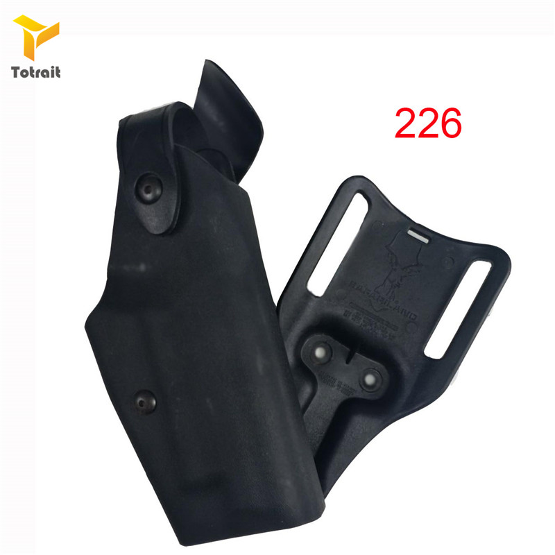 Image 2 - Totrait Military Army Tactical Safariland Holster M9 GL17 1911 USP P226 Gun Carry Case Right Hand Quick Drop Gun Belt HolsterHolsters   -