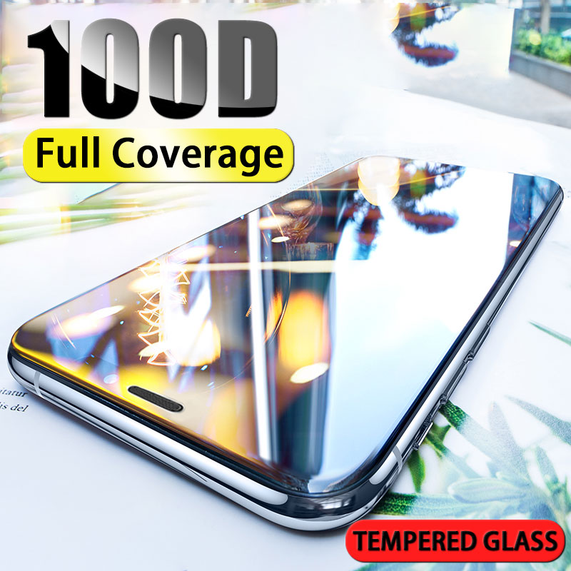 Tempered Curved Edge Protective Glass on For iphone X XR XS MAX Full Cover Screen Protector