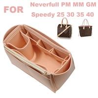 Fits[Neverfull MM PM GM ,Speedy 25 30 35 40]Handmade 3MM Felt Tote Organizer Purse Insert Bag in Bag Makeup Diaper Handbag