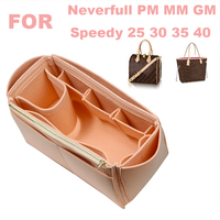 Fits[Neverfull MM PM GM ,Speedy 25 30 35 40]Handmade 3MM Felt Tote Organizer Purse Insert Bag in Bag Makeup Diaper Handbag