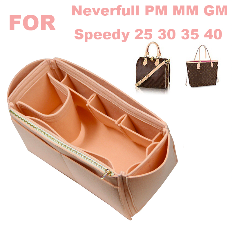 Passt [Neverfull MM PM GM, speedy 25 30 35 40] Handgemachte 3MM Filz Tote Organizer Geldbörse Einsatz Tasche in Tasche Make-Up Windel Handtasche