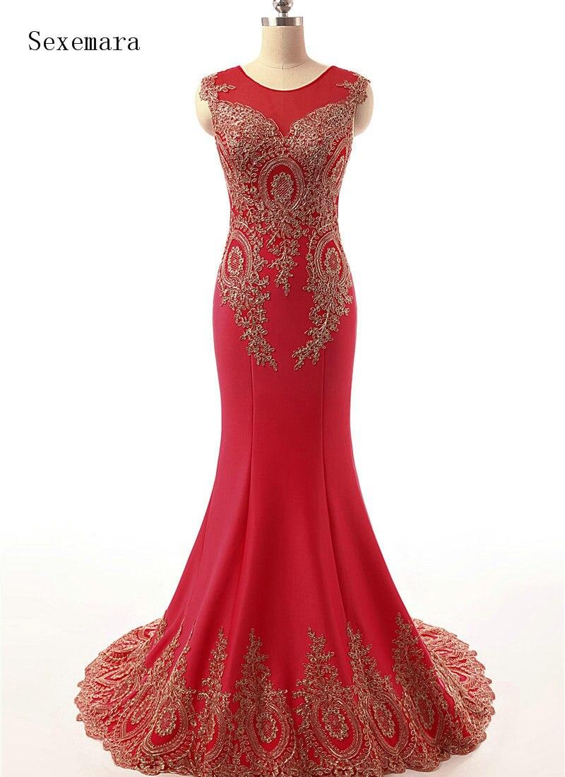 Red Long Evening Prom Gown 2020 Sexy Illusion Real Vintage Formal Vestidos De Festa Vestido Longo Mother Of The Bride Dresses