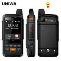 UNIWA F50 Zello PTT talkie-walkie 2.8 pouces écran tactile 4000mAh 4G LTE Android 6.0 Smartphone Quad Core 2G 3G 4G téléphone portable