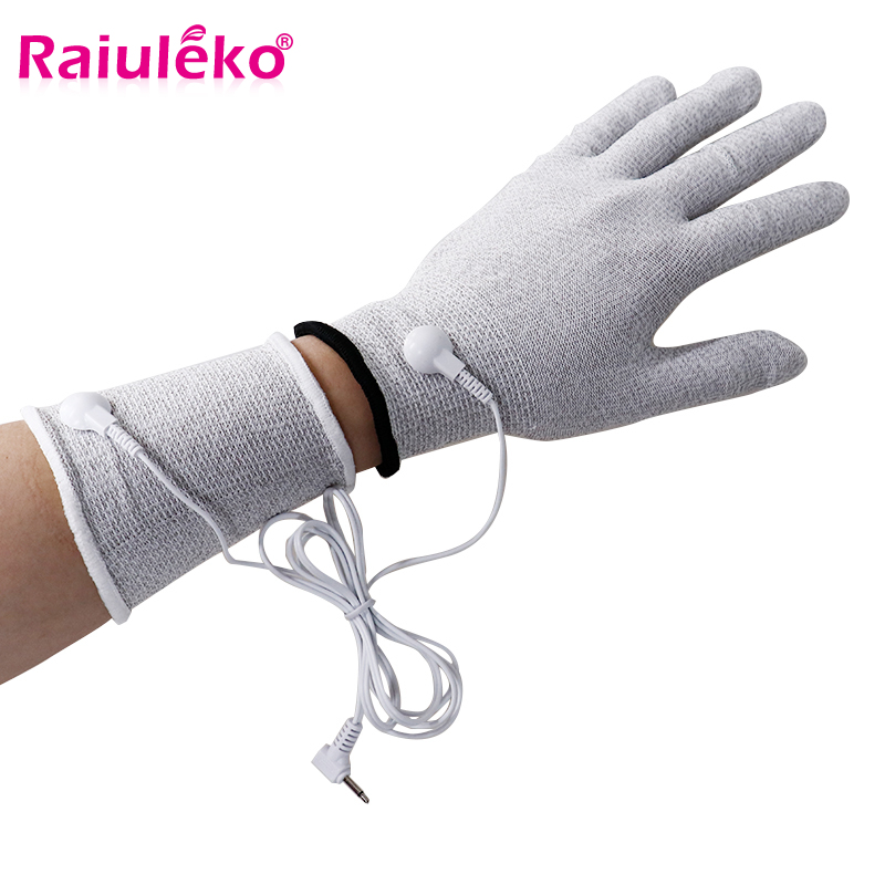 Breathable Fiber Electrotherapy Massager Electrode Gloves With Cable Electrode Machine For Tens Electrotherapy Phycical Mechines Keep You Fit All The Time