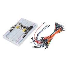 3.3V/5V MB102 Breadboard power module+ 400 points Solderless Prototype Bread board kit +65 Flexible jumper wires
