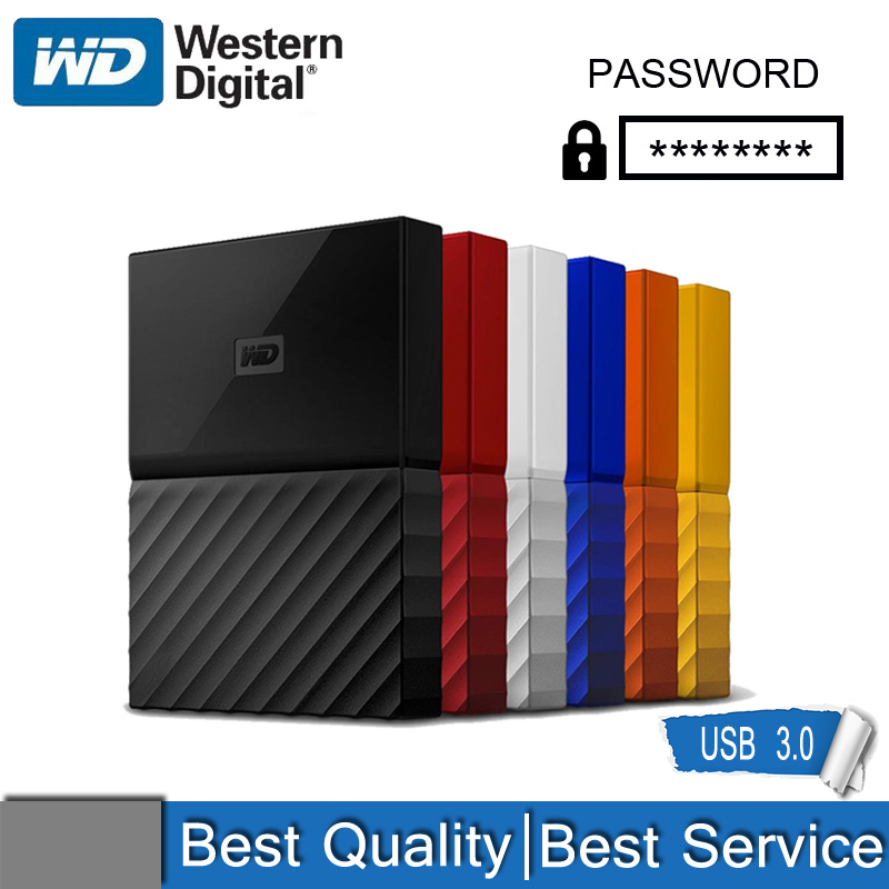 WD My Passport External Hard Drive Disk USB 3.0 1TB 2TB 1T 2T Portable Encrypted Mobile Hard Disk High-speed External Storage