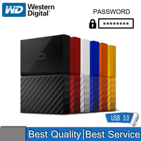 WD My Passport External Hard Drive Disk USB 3.0 1TB 2TB 1T 2T Portable encrypted mobile hard disk high speed external storage