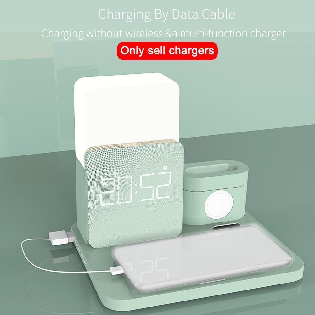 doca lâmpada mesa tempo despertador carregador rápido estação