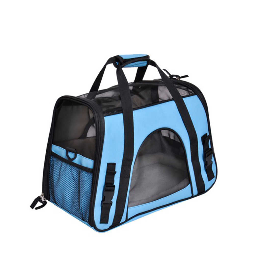 Portable Pet Oxford Handbag travel bags Hollow-out Breathable Waterproof Dog Cat Puppy Carrier Bag Carrier Outgoing Pets Handbag