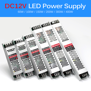 Image 2 - Ultra Thin LED Power Supply DC 12V 24V Lighting Transformers 60W 100W 150W 200W 300W 400W AC190 240V Driver For LED Strips