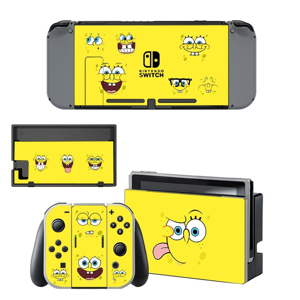 SpongeBobs SquarePants Nintendo Switch Skin Sticker NintendoSwitch stickers skins for Nintend Switch Console Joy Con Controller